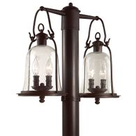P9464NB Troy Hand-Forged Iron Exterior Owings Mill 4Lt Post Lantern Medium with Natural Bronze Finish