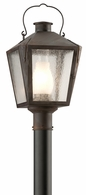 PF3764NR Troy Solid Brass Exterior Nantucket 1Lt Post Lantern Flourescent Medium with Natural Rust Finish