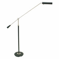 PFL-527 House of Troy Grand Piano Counter Balance Floor Lamp in Black with Satin Nickel Accents