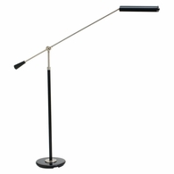 PFLED-527 House of Troy Grand Piano Counter Balance LED Floor Lamp in Black with Satin Nickel Accents