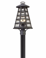 PL5165 Troy Solid Aluminum Exterior Benjamin 1Lt Post Lantern Led Large with Vintage Iron Finish