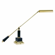 PS10-190-M House of Troy Counter Balance Polished Brass and Black Marble Piano/Desk Lamp