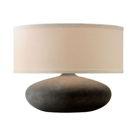 PTL1007 Troy Ceramic Interior Zen 1Lt Table Lamp with Graystone Finish