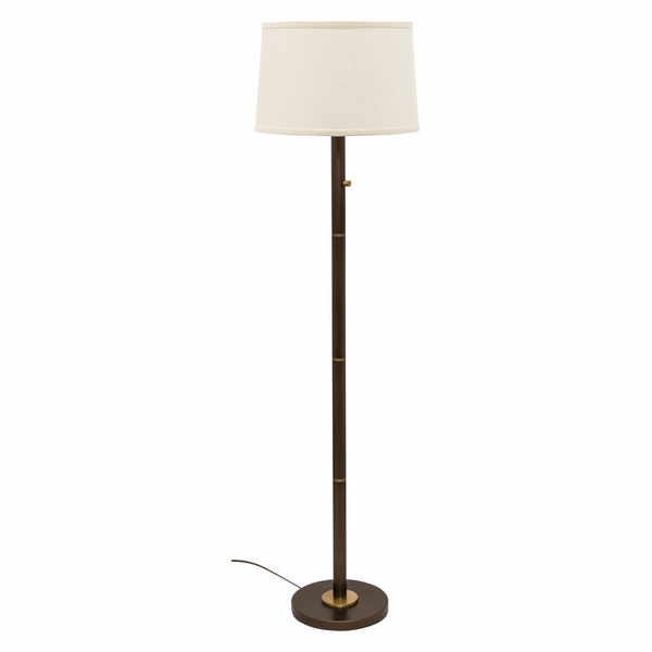 RU703-CHB House of Troy Rupert three way floor lamp in chestnut bronze with weathered brass accents