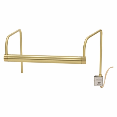 "SL11-51 House of Troy Slim-Line 11"" Satin Brass Picture Light"
