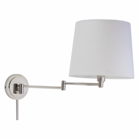 TH725-PN House of Troy Townhouse Wall Swing Arm Lamp in Polished Nickel