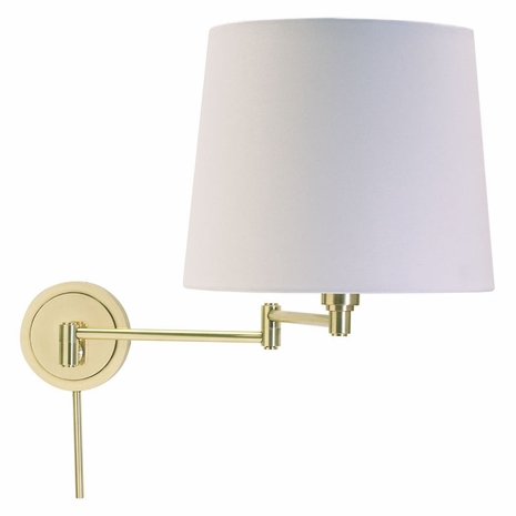 TH725-RB House of Troy Townhouse Wall Swing Arm Lamp in Raw Brass