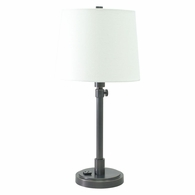 TH751-OB House of Troy Townhouse Adjustable Table Lamp in Oil Rubbed Bronze with Convenience Outlet