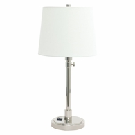 TH751-PN House of Troy Townhouse Adjustable Table Lamp in Polished Nickel with Convenience Outlet