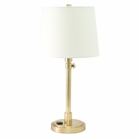 TH751-RB House of Troy Townhouse Adjustable Table Lamp in Raw Brass with Convenience Outlet