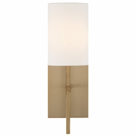 VER-241-AG Crystorama Veronica 1 Light Aged Brass Wall Mount