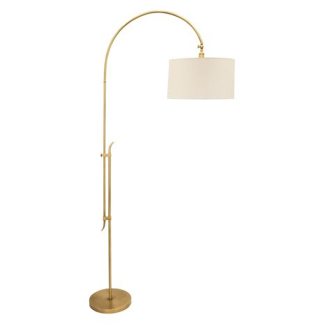 """W401-AB House of Troy 84"""" Windsor Adjustable Floor Lamp in Antique Brass"""