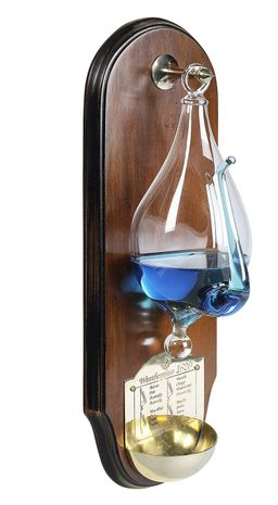 WG011F Authentic Models Weather Glass, French Finish Wood Wall Plaque