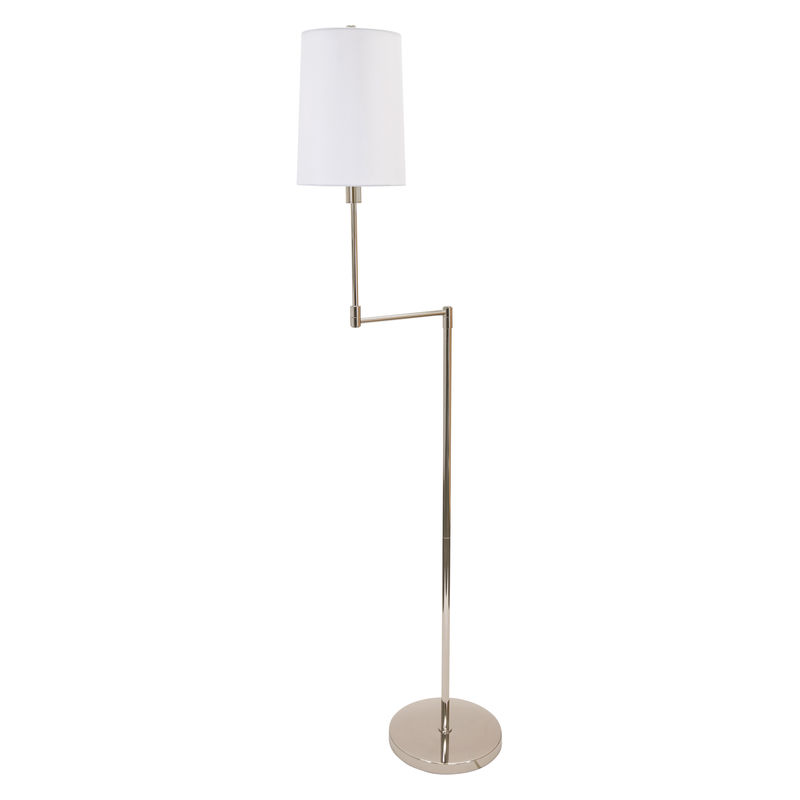 WOL400-PN House of Troy Wolcott Swing Arm Floor Lamp in Polished Nickel