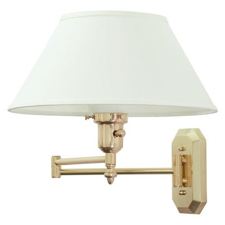 WS-704 House of Troy Wall Swing Arm Lamp in Polished Brass
