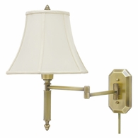 WS-706-AB House of Troy Wall Swing Arm Lamp in Antique Brass