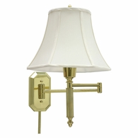 WS-706 House of Troy Wall Swing Arm Lamp in Polished Brass