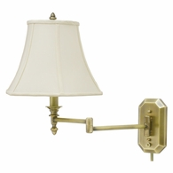 WS-708-AB House of Troy Wall Swing Arm Lamp in Antique Brass