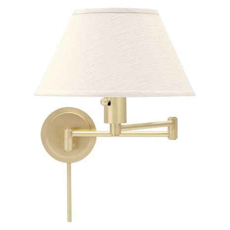 WS14-51 House of Troy Home/Office Wall Swing Arm Satin Brass