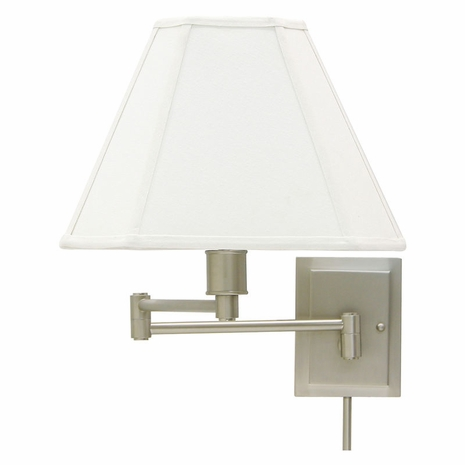 WS16-31 House of Troy Wall Swing Arm Lamp in Pewter