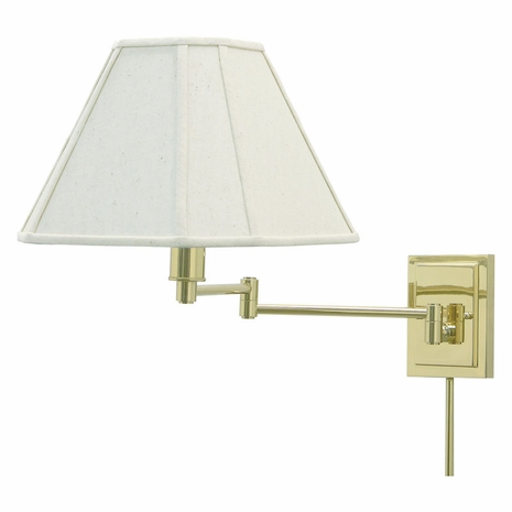 WS16-61 House of Troy Wall Swing Arm Lamp in Polished Brass