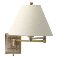 WS750-AB House of Troy Wall Swing Arm Lamp in Antique Brass