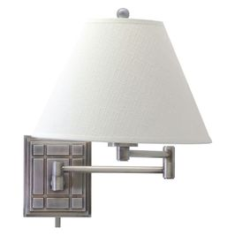WS750-AS House of Troy Wall Swing Arm Lamp in Antique Silver
