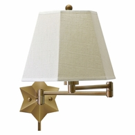 WS751-AB House of Troy Wall Swing Arm Lamp in Antique Brass