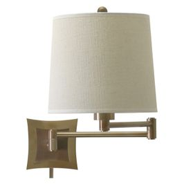 WS752-AB House of Troy Wall Swing Arm Lamp in Antique Brass