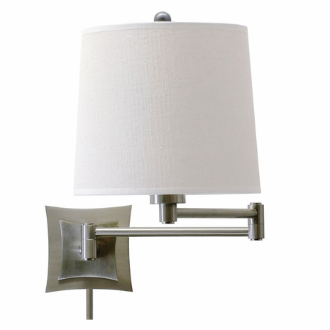 WS752-AS House of Troy Wall Swing Arm Lamp in Antique Silver