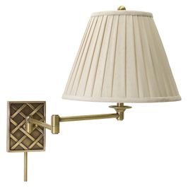 WS760-AB House of Troy Wall Swing Arm Lamp in Antique Brass