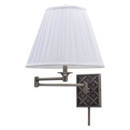 WS760-AS House of Troy Wall Swing Arm Lamp in Antique Silver