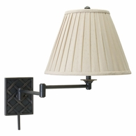 WS760-OB House of Troy Wall Swing Arm Lamp in Oil Rubbed Bronze