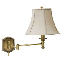 WS761-AB House of Troy Wall Swing Arm Lamp in Antique Brass
