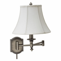 WS761-AS House of Troy Wall Swing Arm Lamp in Antique Silver