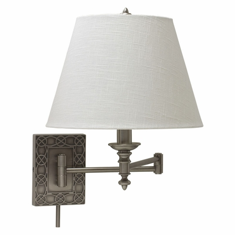 WS763-AS House of Troy Wall Swing Arm Lamp in Antique Silver