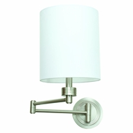 WS775-SN House of Troy Wall Swing Arm Lamp in Satin Nickel