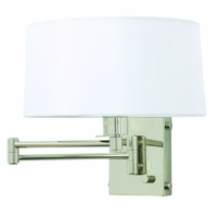 WS776-PN House of Troy Wall Swing Arm Lamp in Polished Nickel with Full Range Dimmer