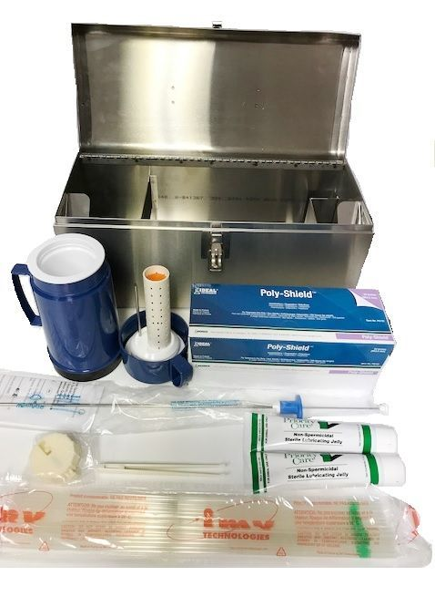 """Equine Sterile 21/"""" Artificial Insemination Kit Syringe Glove Lube Horse A.I"""