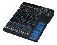 16-Channel Mixing Console: Max. 10 Mic / 16 Line Inputs (8 mono + 4 stereo) / 4 GROUP Buses + 1 Stereo Bus / 4 AUX (incl. FX) – MG16