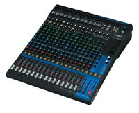 20-Channel Mixing Console: Max. 16 Mic / 20 Line Inputs (12 mono + 4 stereo) / 4 GROUP Buses + 1 Stereo Bus / 4 AUX (incl. FX) – MG20
