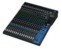 20-Channel Mixing Console: Max. 16 Mic / 20 Line Inputs (12 mono + 4 stereo) / 4 GROUP Buses + 1 Stereo Bus / 4 AUX (incl. FX) – MG20XU