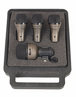 Astatic 4-piece Drum Mic Touring Pack - Contains two TM211, one SN210, one KM212 - DMTP4