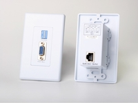 Atlona Passive VGA Wall Plate Extender up to 330ft over 1 x CAT5/6/7 Cable (RECEIVER ONLY) - AT-WPVGA-R