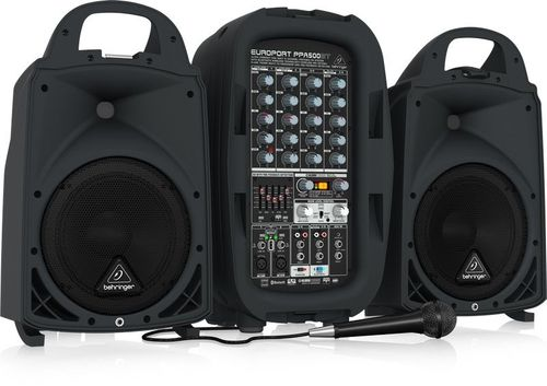Behringer EUROPORT Ultra-Compact 500-Watt Portable PA System - PPA500BT