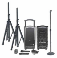 Califone PA919D Integrated Portable PA System with 900MHz Wireless Mic Receiver