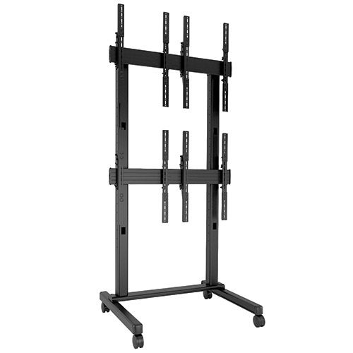 Chief FUSION 2 x 2 Portrait Micro-Adjustable Large Freestanding Video Wall Cart - LVM2X2UP