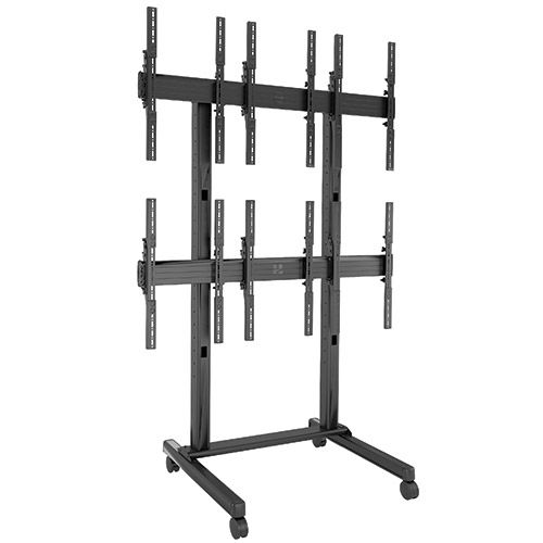 Chief FUSION 3 x 2 Portrait Micro-Adjustable Large Freestanding Video Wall Cart - LVM3X2UP