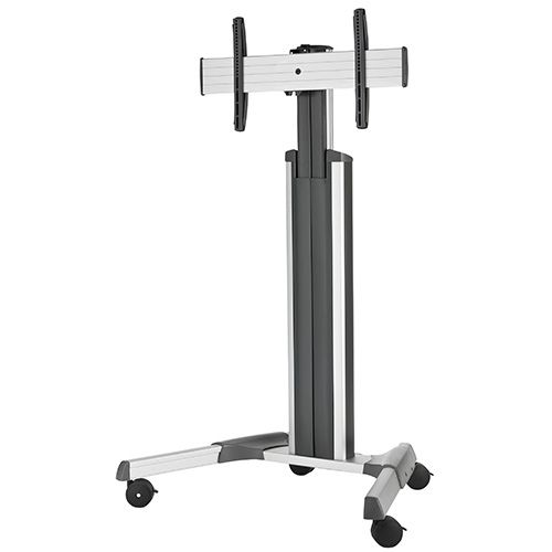 Chief Large Fusion Manual Height Adjustable Mobile AV Cart (Silver) - LPAUS