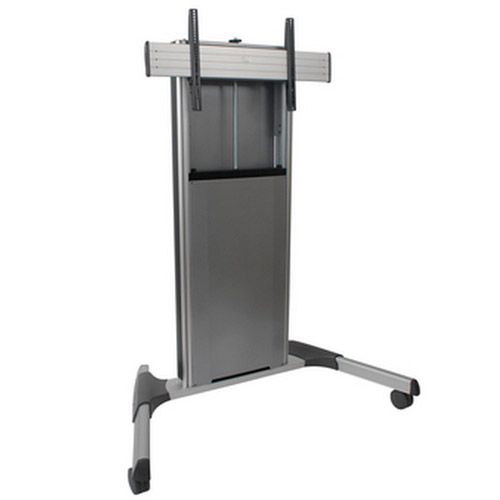 Chief X-Large Fusion Manual Height Adjustable Mobile AV Cart (Silver) - XPAUS